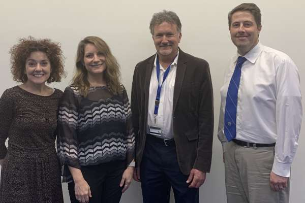 UF CARE Director Dr. Sara Jo Nixon, Seminar Speaker Dr. Kelly Cue Davis, SHARC Director Dr. Robert Cook, Dr. Robert Leeman