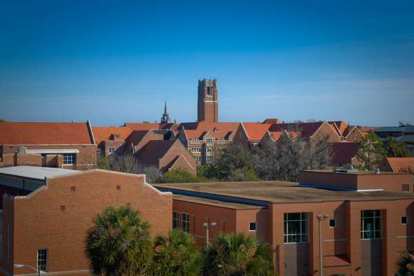 Skyline view of University of Florida campus