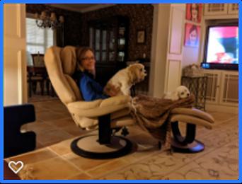 Anna McDaniel and dog